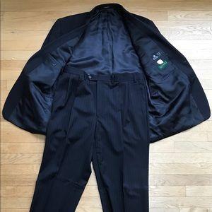 Navy pin stripe jacket and pant set